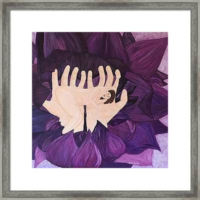 In Loving Hands Framed Print by Cheryl Bailey