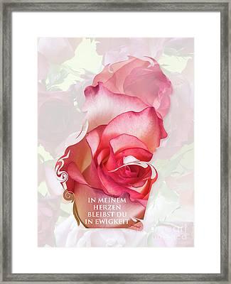 Valentine M1 In Meinem Herzen Love Framed Print