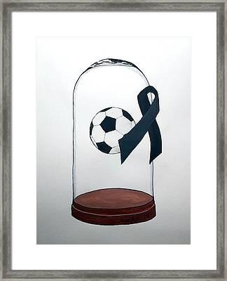In Memory Of Brazil Chapecoense Soccer Team Framed Print by Edwin Alverio