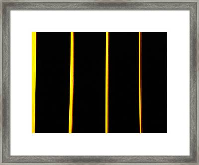 In Memory Of Dan Flavin Framed Print by Kevin Callahan