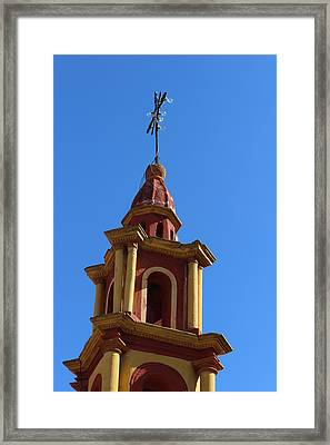 In Mexico Bell Tower Framed Print