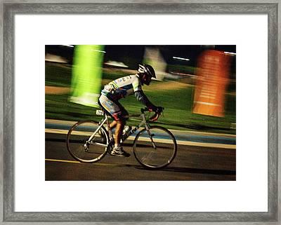 In Motion. Feel The Speed Framed Print