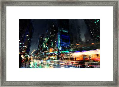 In Motion Framed Print by Philip Straub