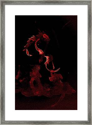 in my dark hour-the E pit of me Framed Print by Rene Avalos