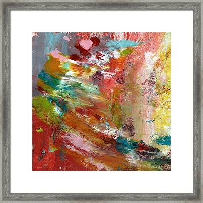 In My Dreams- Abstract Art By Linda Woods Framed Print