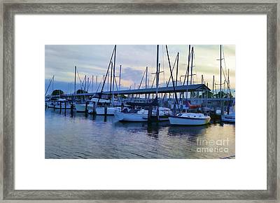 In My Dreams Sailboats Framed Print
