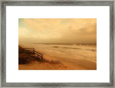 In My Dreams The Ocean Sings - Jersey Shore Framed Print by Angie Tirado