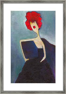 In My Evening Dress Framed Print by Ricky Sencion