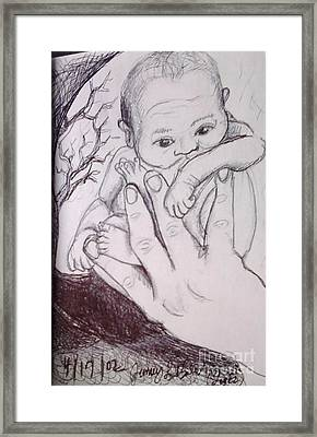 In My Father's Hand Framed Print by Jamey Balester