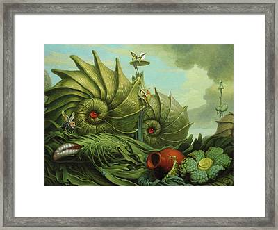 In My Garden Framed Print by Jim Thiesen