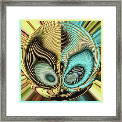 Framed Print featuring the digital art In My Head by Wendy J St Christopher