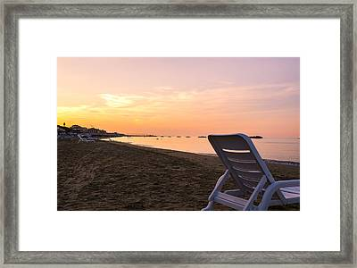 In My Universe - Sunset Over The Sea Framed Print by Andrea Mazzocchetti