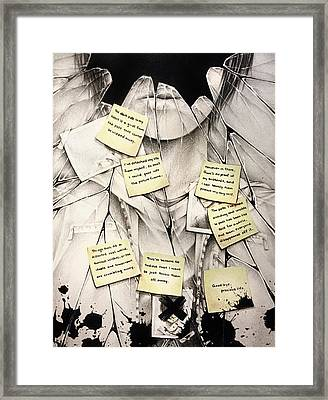 In My World Framed Print by Michelle Wan