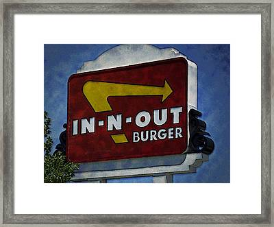 In-n-out Framed Print by Ricky Barnard