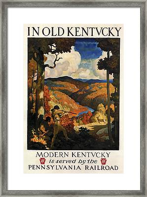 In Old Kentucky Vintage Travel 1930 Framed Print