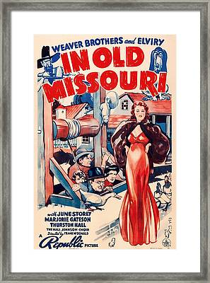 In Old Missouri 1940 Framed Print by Mountain Dreams