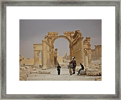 Framed Print featuring the photograph In Old Palmyra by Cendrine Marrouat