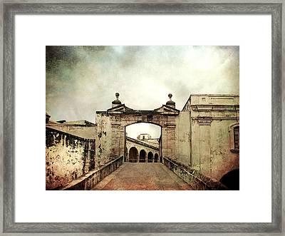 In Old San Juan Framed Print by Julie Palencia