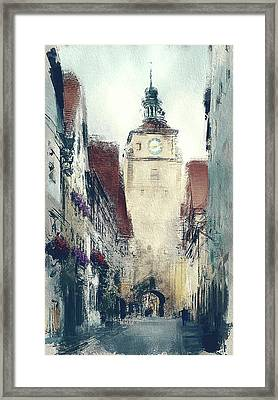 In Old Town Framed Print by Yury Malkov