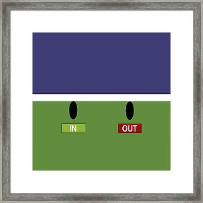 In Out - Square Framed Print by Carlos Vieira