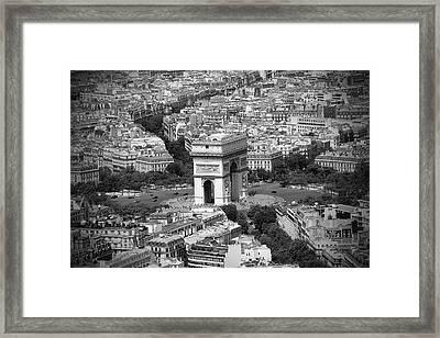 In Paris Bw Framed Print by Kamil Swiatek