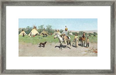 In Pastures New Framed Print