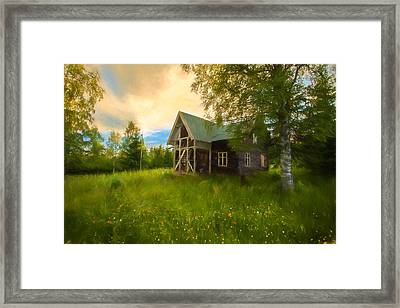 In Peace In Your Grace Framed Print by Rose-Maries Pictures