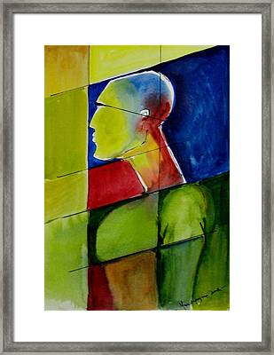 In Pieces Framed Print