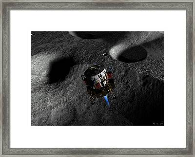 Framed Print featuring the digital art In Preparation For Landing by David Robinson