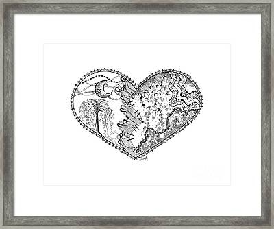 Repaired Heart Framed Print by Ana V Ramirez