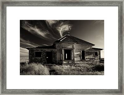 In Ruin Framed Print by Mike  Dawson