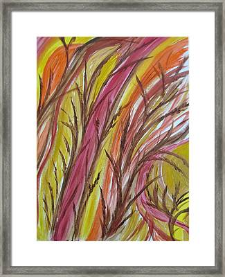 In Rushes Fall Framed Print