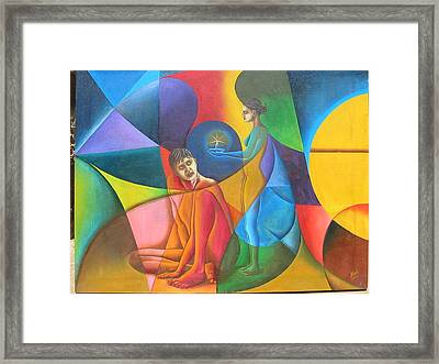 In Search Of Life Framed Print by Mak Art