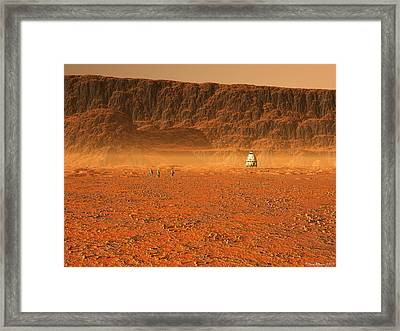Framed Print featuring the digital art In Search Of Water by David Robinson