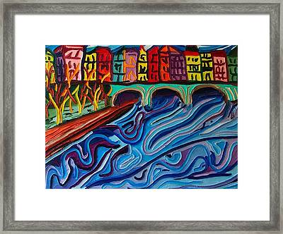 In Seine Framed Print by Ira Stark
