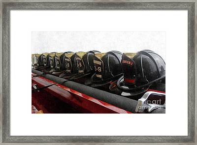 In Service Of Fire  Framed Print by Steven Digman
