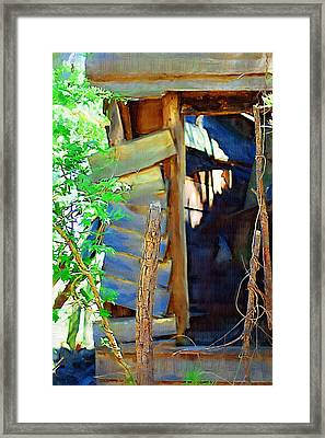 Framed Print featuring the photograph In Shambles by Donna Bentley