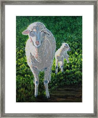 Framed Print featuring the painting In Sheep's Clothing by Karen Ilari