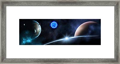in Space Framed Print