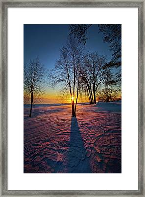 Framed Print featuring the photograph In That Still Place by Phil Koch