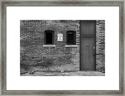 Framed Print featuring the photograph In The Alley by Monte Stevens