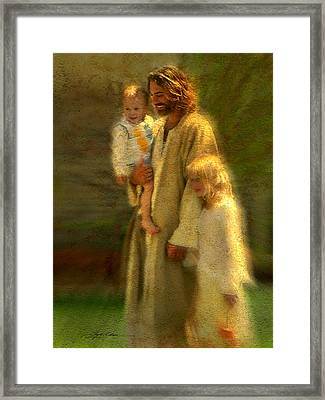 Framed Print featuring the painting In The Arms Of His Love by Greg Olsen