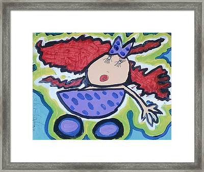 In The Baby Carriage Framed Print by Artists With Autism Inc