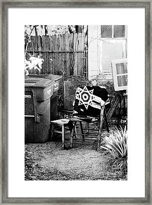 Framed Print featuring the photograph In The Backyard  by Elena Nosyreva
