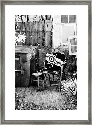 In The Backyard  Framed Print
