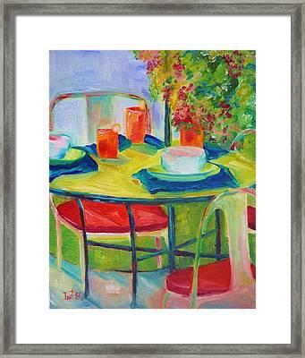 In The Backyard Framed Print by Irit Bourla