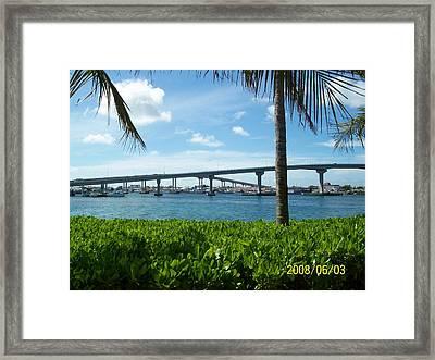 In The Bahamas Framed Print by Rishanna Finney