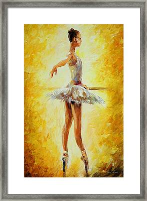 In The Ballet Class Framed Print by Leonid Afremov