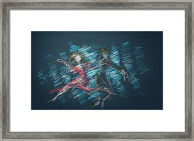 Framed Print featuring the digital art In The Ballroom by Keith A Link