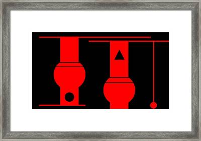 Framed Print featuring the digital art In The Basement Of The School by Cletis Stump
